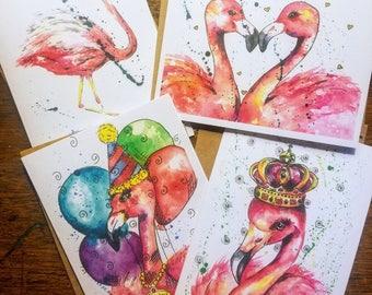 Pink Flamingo Notecards