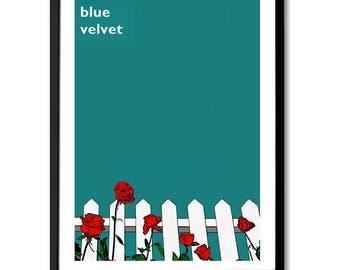 Terciopelo azul inspira película Poster Art Print