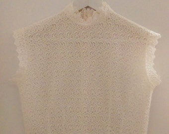 Bodice vintage embroidery unbleached T38/M/2