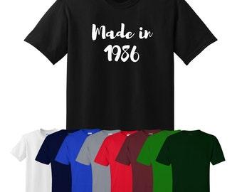 Made in... Custom Print Year Birthday T-shirt Womens Mens UK S-XXL Ships Worldwide