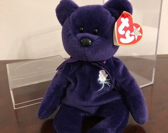 TY Beanie Baby - PRINCESS Diana Bear (PE Pellets - Made in China - 1997)