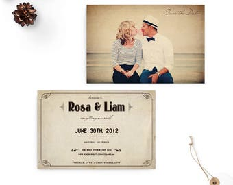 """Save the Date Cards, Photo Save the Date, Wedding Announcement - the """"Rosa"""""""