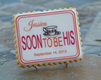 Personalized Wedding Shower Cookie Favors