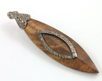 Pave Diamond Pendant, Pave Marquise wood pendant, Pave motif, Pave Art Deco, Pave Designer, Pave Fancy, Pave Diamond Connector.(DCH/PDT/556)