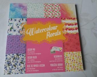 x 1 block of 30 paper scrapbooking pattern 15 x 15 cm