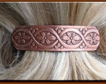 Copper Hair Barrette #4645C3