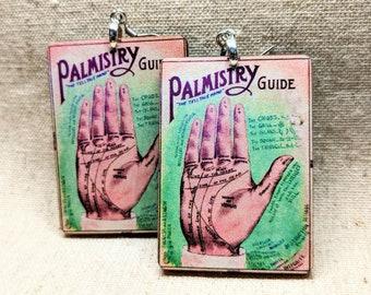 Palmistry Earrings / Psychic Earrings / Palm Reader Earrings / Magic Accessories / Witch Accessories / Wiccan Jewelry / Gypsy Jewelry