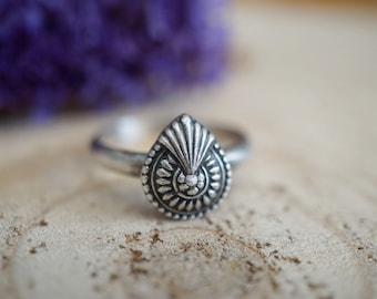 Decorative Stacking Ring. Sterling Silver Ring. Handmade Jewelry. Boho Jewelry. One Of A Kind. Stackable Ring.