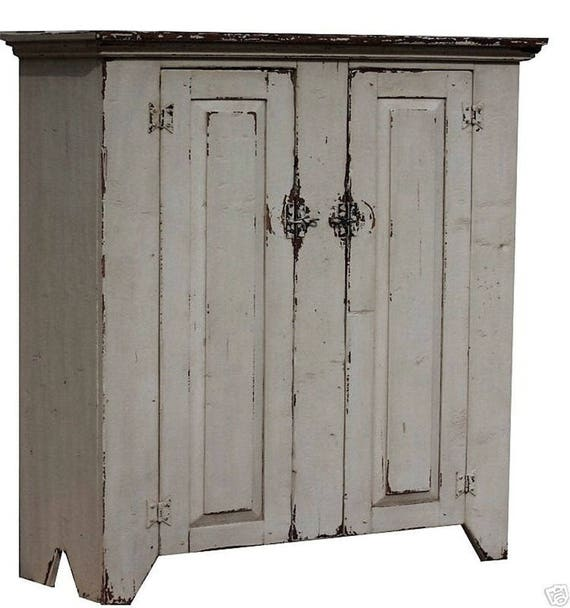 sc 1 st  Etsy & Primitive rustic farmhouse furniture jelly cupboard cabinet