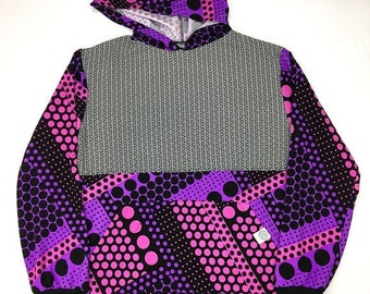 50% OFF SALE One of a Kind - PSYCHEDELIC Purp Eye Pullover ( Large )