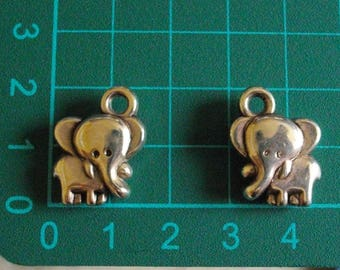 Silver elephant charm