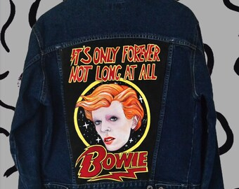 David Bowie hand painted denim jacket