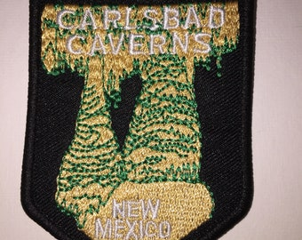 Carlsbad Caverna New Mexico National Park hiking mountains outdoor adventure Iron On Patch