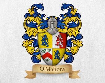O'Mahony Family Crest - Print