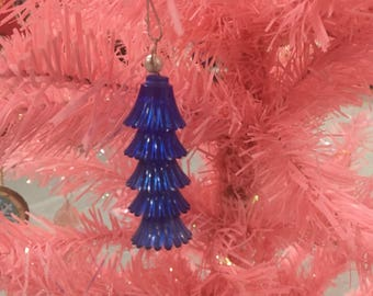 Vintage Christmas Light Ornament - Blue Icicle