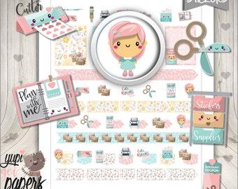 Planner Girl Stickers, Planner Stickers, Planner Icons, Planning Stickers, Planner Accessories, Plan, Use in Erin Condren