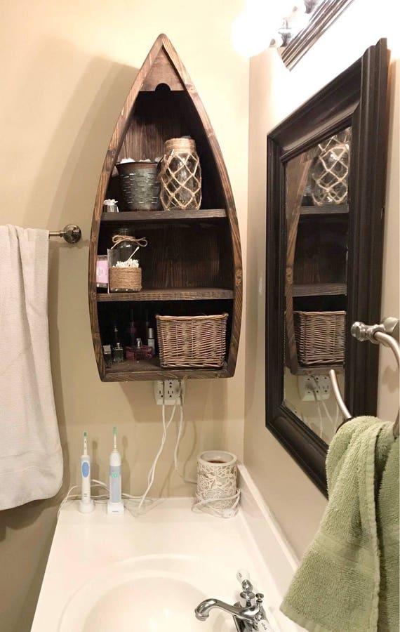 Handmade Boat Shelf for the Wall by KnotInYourHouse