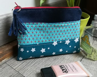 """""""Stars and dots"""" suede pouch"""