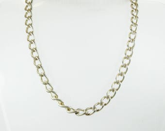 Minimalist Style (1970-Present) Silver Plated Cable Chain