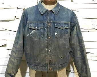 Vintage 60's Madewell Snap Button Denim Jacket - Medium