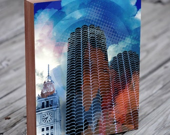 Chicago Abstract Art - Chicago Architecture - Marina City - Chicago Artists - Chicago Loop
