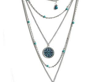 FIROOZEH multilayer necklace - vintage - boho - hipster