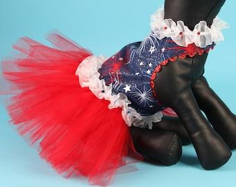 SAMPLE SALE:  Patriotic Theme Party Tutu Dog Dress