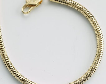 DESTASH SALE: Necklace Yellow Gold-Plated 3mm Snake Chain, Made in USA, set of 3 gold necklaces