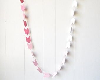 Ombre Arrow Garland in Pink and Rose Quartz