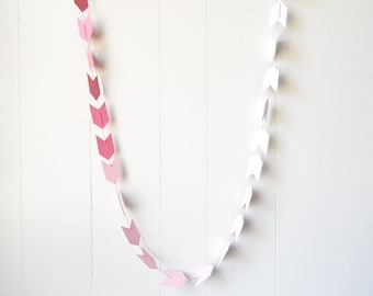 Ombre Arrow Garland in Pink and Rose Quartz 10 ft