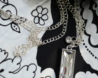 Necklace, Swarovski Crystal Necklace, Clear Crystal