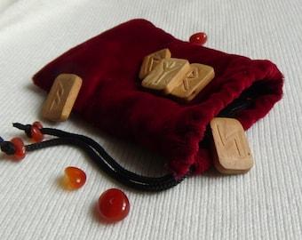 Velvet runes bag runes case runes pouch tarot bag witch gifts witchcraft tarot case