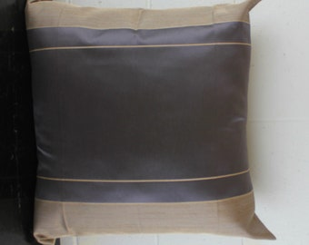 Charcoal and Champagne Contrast Art Deco Cushion Cover by Peacock and Penny. 50cms x 50cms Beautiful French Provincial Style.