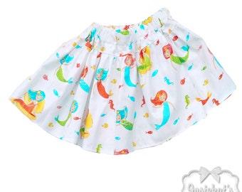 Mermaid Party Skirt - Girl Twirl Skirt - Infant Mermaid Skirt - Tween Pool Party Skirt - Toddler Mermaid Birthday 6 month to Girl 16