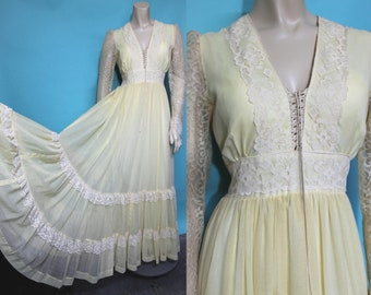 Vintage GUNNE SAX Dress / 70s Prairie Dress / Victorian Dress / Vintage Boho Wedding Dress / 70s Boho Dress / Vintage 70s Wedding