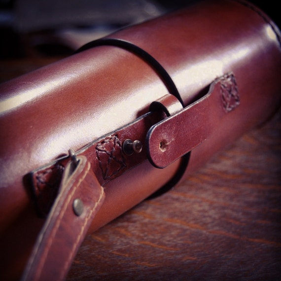 Leather blueprint tube benjamin genuine leather case for 50 malvernweather Image collections