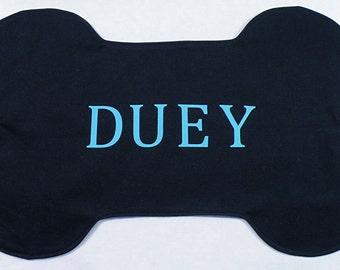Personalized Dog Bone Placemat - Black