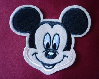 Disney Mickey Mouse iron-on, sew-on applique, patch, embroidery badge.