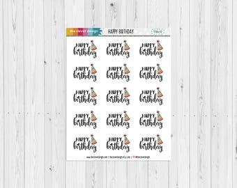Happy Birthday Planner Stickers | 17304-02