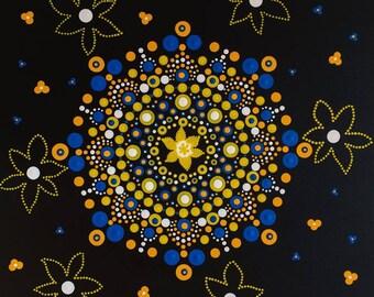 Mandala painting: Daffodil