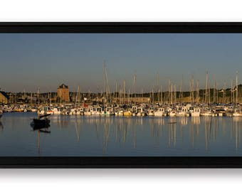 """Panoramique """"Camaret-sur-Mer 1"""", tirage d'art contrecollé sur Forex et monté en caisse américaine"""
