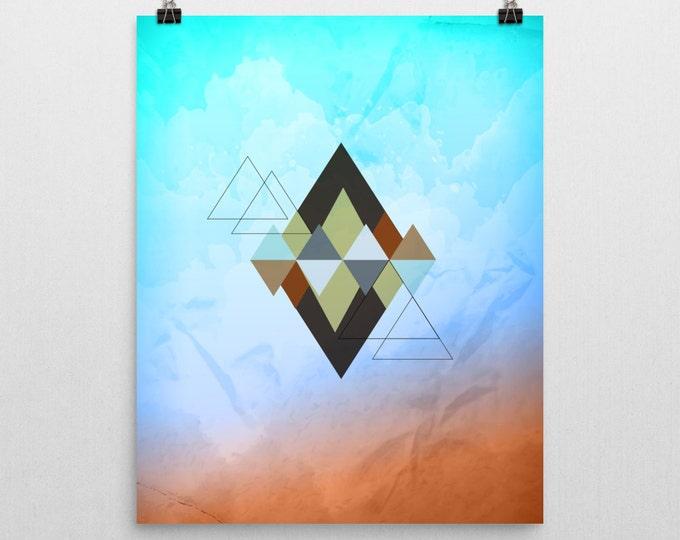 Wall Art Print Modern Poster, Art Print, Geometric Home Wall Decor, Modern  Print