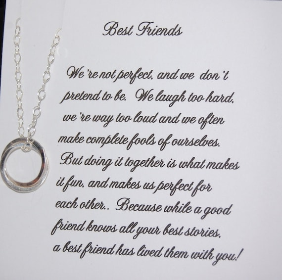 Set Of Two BEST FRIEND Necklaces Christmas Gift Friendship