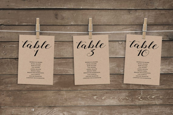 Rustic Wedding Table Plan | Midway Media