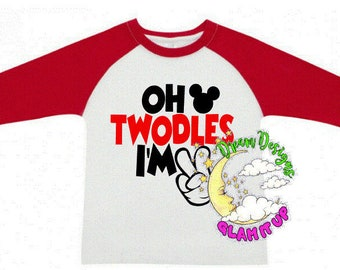 oh twodles, i'm two, 2nd birthday, raglan, two year old birthday shirt, boys/girls birthday shirt, oh twodles birthday shirt, mickey mouse,