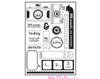 Clear stamp KAISERCRAFT acrylic stamp, stamp, scrapbooking, 16 pieces