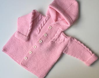 Knitted Toddler Baby Girls Cardigan/Hoodie/Jacket/Sweater, size 80-86 cm, 12-18 months
