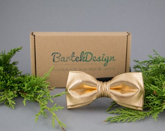 Gold Bow Tie Gold Kids Bow Tie Toddler Bow Tie for Boys Child-size Bow Tie Boys Bow Tie Ring Bearer Bow Tie Gift for Boy