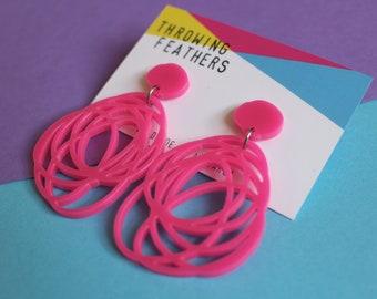 Ghetti dangle earrings - Choose your colour
