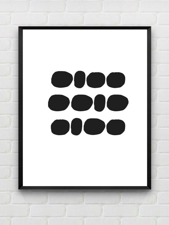 Scandinavian print monochrome poster minimalist kids room